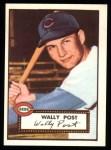 1952 Topps Reprints #151  Wally Post  Front Thumbnail