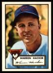 1952 Topps Reprints #324  Warren Hacker  Front Thumbnail
