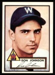 1952 Topps Reprints #190  Don Johnson  Front Thumbnail
