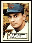 1952 Topps Reprints #105  Johnny Pramesa  Front Thumbnail