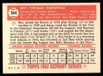 1952 Topps Reprints #264  Roy Hartsfield  Back Thumbnail