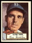 1952 Topps Reprints #205  Clyde King  Front Thumbnail