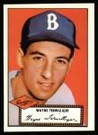 1952 Topps Reprints #7  Wayne Terwilliger  Front Thumbnail