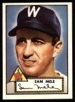 1952 Topps Reprints #94  Sam Mele  Front Thumbnail