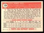 1952 Topps Reprints #298  Bob Ross  Back Thumbnail