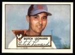 1952 Topps Reprints #110  Dutch Leonard  Front Thumbnail