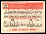 1952 Topps Reprints #144  Ed Blake  Back Thumbnail