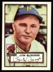 1952 Topps Reprints #218  Clyde McCullough  Front Thumbnail