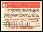 1952 Topps Reprints #328  Bob Borkowski  Back Thumbnail