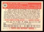 1952 Topps Reprints #364  Clyde Sukeforth  Back Thumbnail