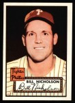 1952 Topps Reprints #185  Bill Nicholson  Front Thumbnail