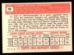 1952 Topps Reprints #99  Gene Woodling  Back Thumbnail