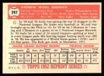 1952 Topps Reprints #297  Andy Seminick  Back Thumbnail
