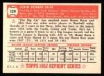 1952 Topps Reprints #129  Johnny Mize  Back Thumbnail