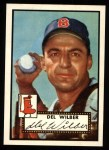 1952 Topps Reprints #383  Del Wilber  Front Thumbnail