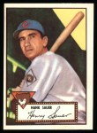 1952 Topps Reprints #35  Hank Sauer  Front Thumbnail
