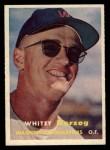 1957 Topps #29   Whitey Herzog Front Thumbnail
