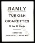 1909 T204 Ramly Reprints #77  Matty McIntyre  Back Thumbnail
