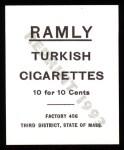 1909 T204 Ramly Reprints #11  Chief Bender  Back Thumbnail