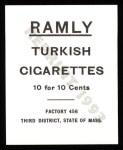 1909 T204 Ramly Reprints #58  Miller Huggins  Back Thumbnail