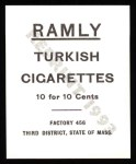 1909 T204 Ramly Reprints #31  Jack Coombs  Back Thumbnail