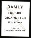1909 T204 Ramly Reprints #48  Art Fromme  Back Thumbnail