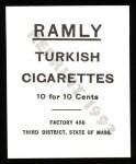 1909 T204 Ramly Reprints #39  Bill Donovan  Back Thumbnail