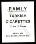 1909 T204 Ramly Reprints #7  Frank Bancroft  Back Thumbnail