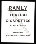 1909 T204 Ramly Reprints #52  Clark Griffith  Back Thumbnail