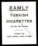 1909 T204 Ramly Reprints #69  Hans Loebert  Back Thumbnail