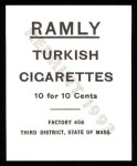 1909 T204 Ramly Reprints #95  Eddie Plank  Back Thumbnail