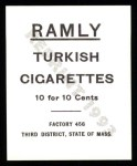 1909 T204 Ramly Reprints #92  Dode Paskert  Back Thumbnail