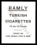 1909 T204 Ramly Reprints #103  Germany Schaefer  Back Thumbnail