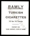 1909 T204 Ramly Reprints #55  Dick Hoblitzell  Back Thumbnail