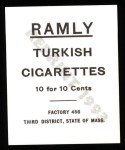 1909 T204 Ramly Reprints #63  Ed Kargar  Back Thumbnail