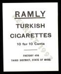 1909 T204 Ramly Reprints #91  Charley O'Leary  Back Thumbnail