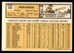 1963 Topps #530  Don Mossi  Back Thumbnail