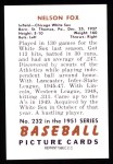 1951 Bowman Reprints #232  Nellie Fox  Back Thumbnail