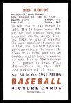 1951 Bowman Reprints #68  Dick Kokos  Back Thumbnail