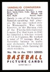 1951 Bowman Reprints #96  Sandy Consuegra  Back Thumbnail