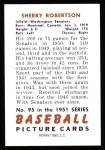 1951 Bowman Reprints #95  Sherry Robertson  Back Thumbnail