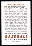 1951 Bowman Reprints #138  Phil Cavarretta  Back Thumbnail