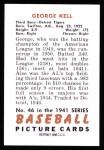 1951 Bowman Reprints #46  George Kell  Back Thumbnail