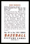 1951 Bowman Reprints #97  Bob Kuzava  Back Thumbnail