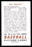1951 Bowman Reprints #44  Roy Smalley  Back Thumbnail