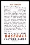 1951 Bowman Reprints #66  Bob Elliott  Back Thumbnail
