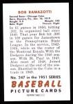 1951 Bowman Reprints #247  Bob Ramazzotti  Back Thumbnail