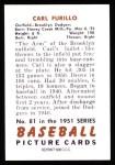 1951 Bowman Reprints #81  Carl Furillo  Back Thumbnail