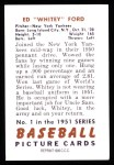 1951 Bowman Reprints #1  Whitey Ford  Back Thumbnail