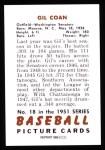 1951 Bowman Reprints #18  Gil Coan  Back Thumbnail